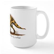 Horned Dinosaur Mug with Slogan