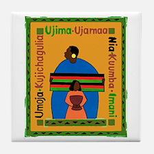 Kwanzaa Gift Tile Coaster
