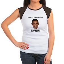 Obama Worst President Ever Women's Cap Sleeve T-Sh