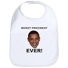 Obama Worst President Ever Bib