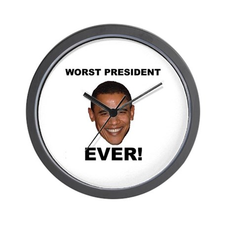 Obama Worst President Ever Wall Clock