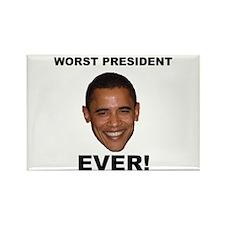 Obama Worst President Ever Rectangle Magnet