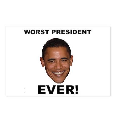 Obama Worst President Ever Postcards (Package of 8