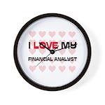 I Love My Financial Analyst Wall Clock