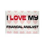 I Love My Financial Analyst Rectangle Magnet (10 p