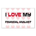 I Love My Financial Analyst Rectangle Sticker