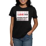I Love My Financial Analyst Women's Dark T-Shirt