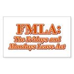 FMLA Fraud Rectangle Sticker 10 pk)