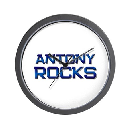 antony rocks Wall Clock