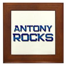 antony rocks Framed Tile