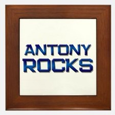 antony rocks Framed Tile
