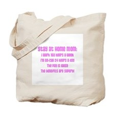 Stay at Home Mom Pink Print Tote Bag