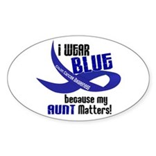 I Wear Blue For My Aunt 33 CC Oval Decal
