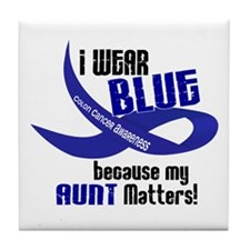 I Wear Blue For My Aunt 33 CC Tile Coaster