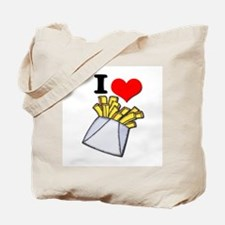 I Heart (love) French Fries Tote Bag