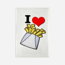 I Heart (love) French Fries Rectangle Magnet