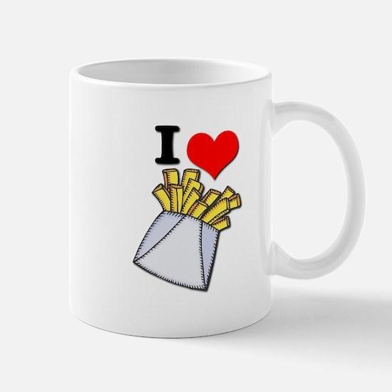 I Heart (love) French Fries Mug