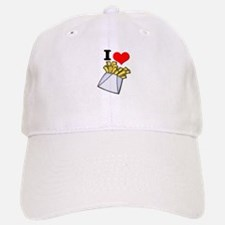 I Heart (love) French Fries Baseball Baseball Cap