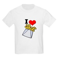 I Heart (love) French Fries Kids T-Shirt