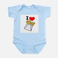 I Heart (love) French Fries Infant Creeper