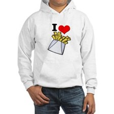 I Heart (love) French Fries Hoodie