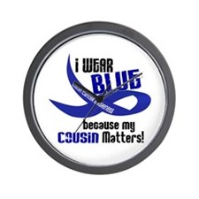 I Wear Blue For My Cousin 33 CC Wall Clock