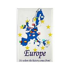 "European ""History"" Rectangle Magnet"