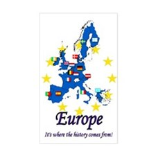 """European """"History"""" Rectangle Decal"""