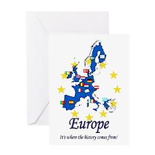 "European ""History"" Greeting Card"