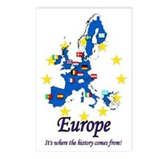 "European ""History"" Postcards (Package of 8)"