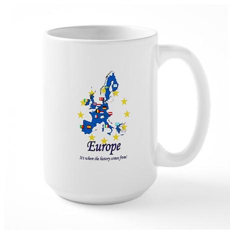 "European ""History"" Large Mug"