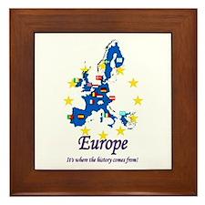 """European """"History"""" Framed Tile"""