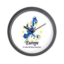 "European ""History"" Wall Clock"