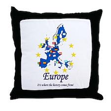 """European """"History"""" Throw Pillow"""
