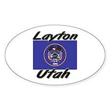 Layton Utah Oval Decal