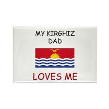 My KIRGHIZ DAD Loves Me Rectangle Magnet
