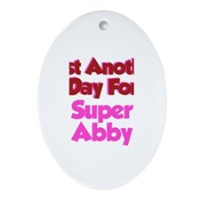 Another Day Abby Oval Ornament
