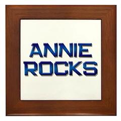 annie rocks Framed Tile