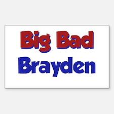 Big Bad Brayden Rectangle Decal