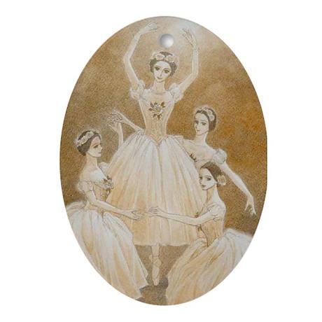 Pas de Quatre Ballet Keepsake (Oval)