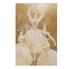 Pas de Quatre Ballet Postcards (Package of 8)