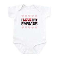 I Love My Farmer Infant Bodysuit