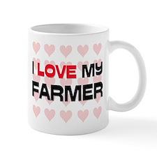 I Love My Farmer Mug