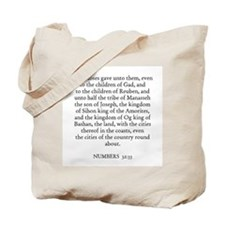 NUMBERS  32:33 Tote Bag