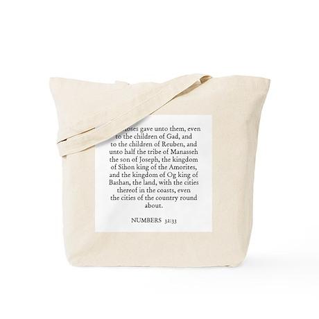 NUMBERS 32:33 Tote Bag