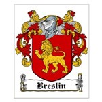 Breslin Coat of Arms Small Poster