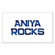 aniya rocks Rectangle Decal