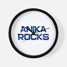 anika rocks Wall Clock