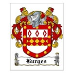 Burges Coat of Arms Small Poster