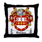 Burges Coat of Arms Throw Pillow